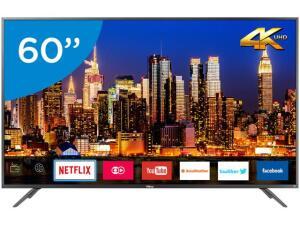 "Smart TV 4K LED 60"" Philco  - Wi-Fi HDR Conversor Digital 3 HDMI 2 USB - R$2203"
