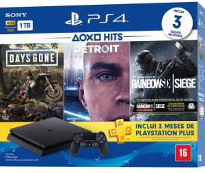 PS4 SLIM 1TB HITS BUNDLE 5 + CONTROLE DUALCHOCK 4 - R$1600
