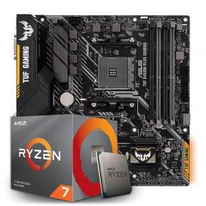 Kit Upgrade Placa Mãe Asus TUF B450M-PLUS GAMING AMD AM4 + Processador AMD Ryzen 7 3700x 3.6ghz