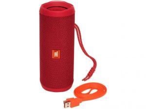 Caixa de som bluetooth JBL Flip 4 à prova d'água - Portátil 16W USB R$ 385