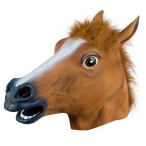 Mascara De Cavalo Cabeça De Cavalo Fantasia Cosplay R$ 39