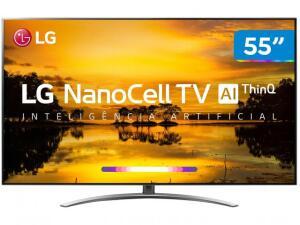 "Smart TV 4K NanoCell 55"" LG 55SM9000PSA - R$4.560"