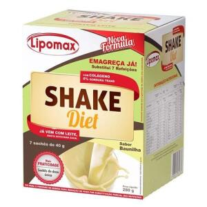 Lipomax Shake Diet Baunilha 40g Com 7 Sachês