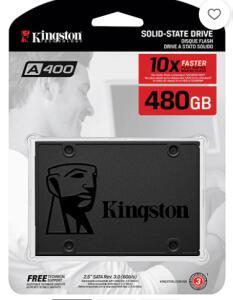 SSD Kingston A400 480GB - 500mb/s para Leitura e 450mb/s para Gravação