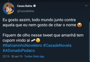 Cupom Surpresa - Casas Bahia