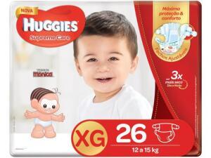 Fraldas Huggies XG com 26