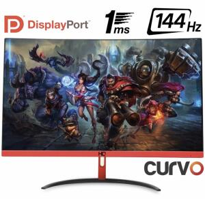 """Monitor Gamer LED Curvo 24"""" 1ms 144hz HQ - R$983"""