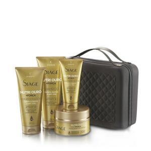 EUDORA KIT SIÀGE NUTRI OURO - Shampoo +  Condicionador + Máscara + Leave In + Necessaire