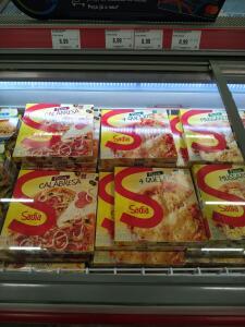 (Assaí Pilares) pizza Sadia r$ 8,99.