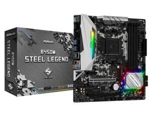 Placa Mãe ASRock B450M Steel Legend, Chipset B450, AMD AM4, mATX, DDR4 R$521