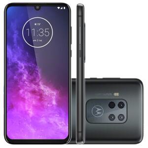 "Smartphone Motorola One Zoom 128GB Octa Core Tela OLED 6.4"" Câmera Quádrupla 48MP Selfie 25MP Android 9.0 Pie – Titanium"