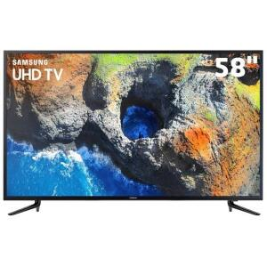 "Smart TV 4K LED 58"" Samsung 58MU6120 Wi-Fi - Conversor Digital 3 HDMI 2 USB - R$2736"