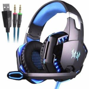 [Ame por R$67,32] Headphone Gamer Profissional Kotion Each G2000 Azul