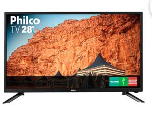 TV LED 28'' Philco PH28N91D HD com Conversor Digital 1 USB 1 HDMI - Preta