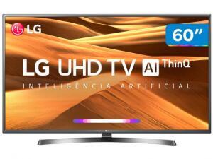 "Smart TV 4K LED 60"" LG 60UM7270 ThinQ + Controle Smart Magic | R$2.821"