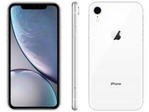 "iPhone XR Apple 64GB Branco 4G Tela 6,1"" Retina R$3654"