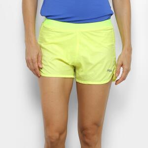 2 Shorts Fila Preview Feminino - Amarelo