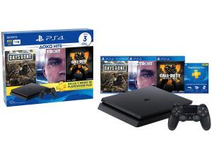 Playstation 4 1TB 1 Controle Sony com 3 Jogos - 3 Meses PS Plus - R$1726