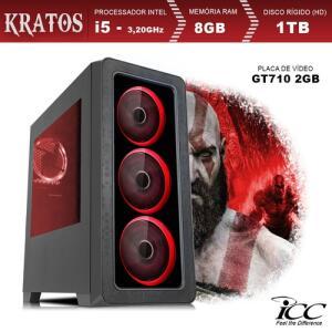 [R$1.299 com Ame] Pc Gamer Icc Kt2582s Intel Core I5 3,20 Ghz 8gb 1tb Gt710 2gb Hdmi Full Hd | R$2.799