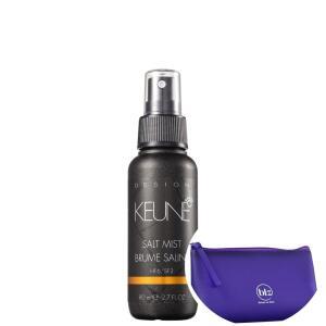 [18 com AME] Keune Salt Mist - Spray Volumador 80ml+beleza Na Web Roxo - Nécessaire