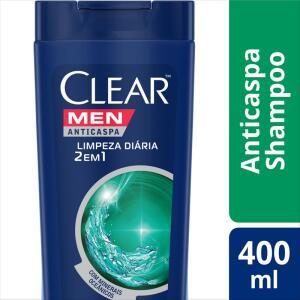 3 shampoos Clear Men 400ml (Pague 2, leve 3) + Frete grátis