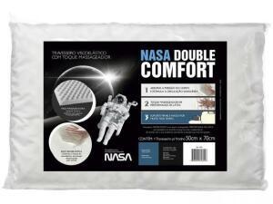 Travesseiro com Espuma Viscoelástica-Fibrasca NASA Double Comfort