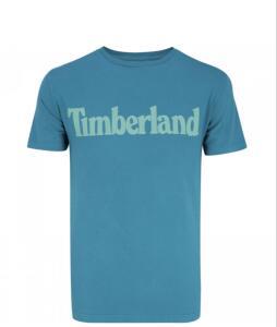 Camiseta Timberland SS Kennebec Linear Logo - Masculina Azul Tam P + Frete grátis