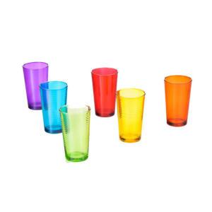 Conjunto de Copos Coloridos Lyor Design Lines 260 ml – 6 Peças | R$25
