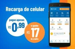 Recarga de R$17 em Créditos no RecargaPay para operadoras Tim, Oi ou Claro - Primeira Recarga
