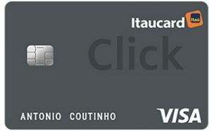 Itaucard click visa/mastercard platinum | Anuidade grátis gastando 100/mês