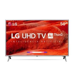 "Smart TV 50"" LG ThinQ AI 4K 50UM7500 + Controle Smart Magic | R$1.710"