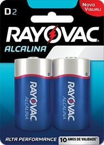 "[Prime] 2 Pilhas Rayovac ""Tipo D"" Alcalinas"