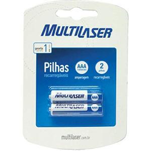 [Prime] 2 Pilhas AAA recarregáveis Multilaser