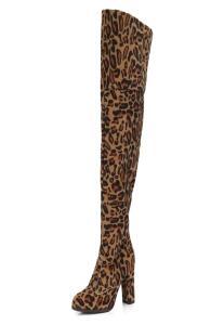 Bota Frida Shoes Over Veludo Onça | R$240
