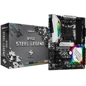 Placa-Mãe ASRock B450 Steel Legend, AMD AM4, ATX, DDR4 | R$650