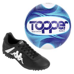 Chiteira Society Kappa + Bola Oficial Topper | R$100