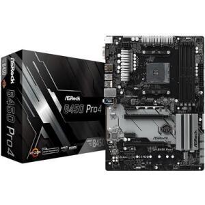 Placa-Mãe ASRock B450 Pro4, AMD AM4, ATX, DDR4 - R$549