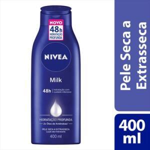 Loção Nivea Body Milk Extra Seca 400ml - Retira grátis