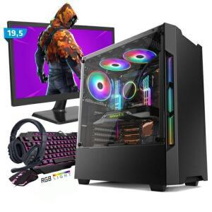 Kit Pc Gamer Smart Smt81462 Intel I5 8gb (geforce Gtx 1650 4gb) Ssd 240gb + Monitor 19,5 | R$2.631