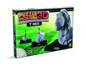 Puzzle Escultura 3D T-Rex | R$43