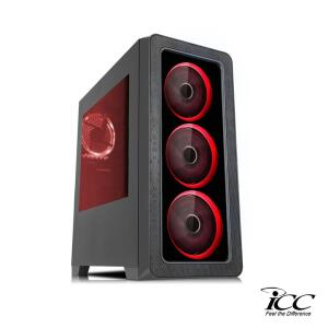 [50% de Ame] PC Gamer ICC KTI2586S Intel Core I5 3,20 Ghz 8GB 120GB SSD GTX1050 Ti 2GB HDMI FULL HD - R$3899