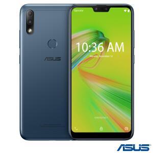"""Zenfone Max Plus (M2) Azul Asus com Tela 6,2"""", 4G, 32GB - R$499"""