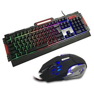 Kit Gamer Teclado Semi Mecânico + Mouse 3000dpi + Mouse Pad Extra Grande