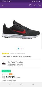 Tênis Nike Downshifter 9 Masculino  R$160