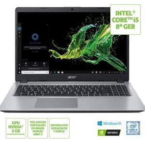 [Boleto] Mochila + Notebook Acer Aspire 5 A515-52G-522Z c/ MX130,  i5-8265U, 8GB e SSD de 512GB