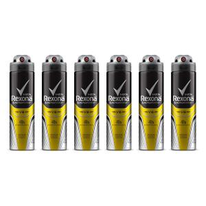 R$ 49,99 Kit Desodorante Rexona Men V8 48 horas Aerosol Masculino 150ml 6 unidades