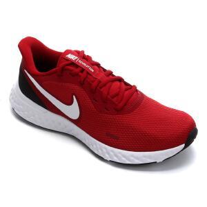 Tênis Nike Revolution 5 Masculino - Vermelho e Branco | R$238