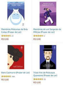 Livros da literatura brasileira gratuitos em formato Kindle