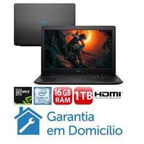 "Notebook Gamer Dell NVIDIA GeForce GTX 1050Ti Core i7-8750H 16GB 1TB Tela Full HD 15.6"" Windows 10 G3 15 Gaming - G3-3579-A30P"