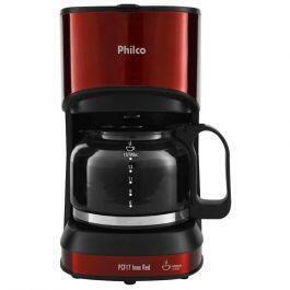 Cafeteira Elétrica Philco PCF17 Red Inox até 15 Cafés - R$79